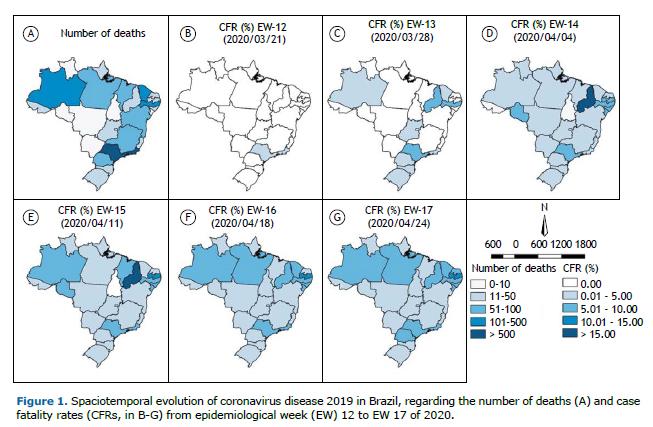Jornal Brasileiro De Pneumologia Evolucao Espacotemporal Da Letalidade Por Covid 19 No Brasil 2020